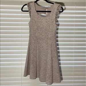 Free People mauve & off white dress marbled dress
